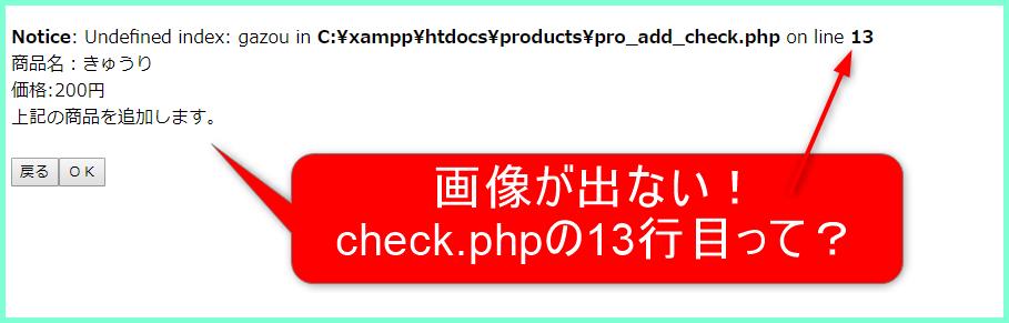 PHP 画像 出ない